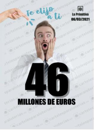 La Primitiva 46 millones 6 de marzo de 2021